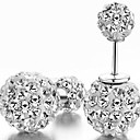 Women's Fashion Shambhala Rhinestone Double Ball Earrings