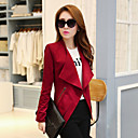Women's Pink/Red/Black/Gray Blazer , Work Long Sleeve