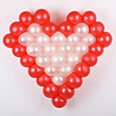 Wedding Décor 50 Pcs Solid Color Balloon With Love Type Shelf-(Each Color 25 Pcs)