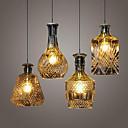 Crystal Glass  Lamp ,4Lights Shade Restaurant Kitchen Minimalist Personality Bottle Lights