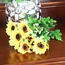 mariage décor décoration fleurs artificielles 14.2''l tournesols 12 têtes en plastique / soie