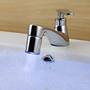 3 Colors LED Brass Temperature Control LED Lights  Water Faucet Lights