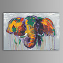 Oil Painting Modern Abstract Elephant Hand Painted Canvas with Stretched Frame