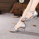 Frauen Sekt Glitter Ankle Stripe Latin Dance Schuhe Sandalen (weitere Farben)