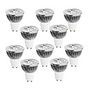 10 pcs GU10 4 W 4 High Power LED 360-400 LM Warm White/Cool White/Natural White Dimmable Spot Lights AC 220-240 V