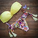 Bikini Tofs/Enfärgad Push-up/Bygelbehå Kvinnors Nylon
