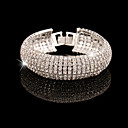 Elegant Full-Crystal BlingBling Bangle Bracelet for Women Wedding Party Jewelry