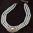 European And American Fashion New Metal Austria Crystal Necklace