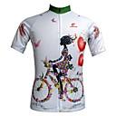 Mailliot Cyclisme - Respirable/Résistant aux ultraviolets/Séchage rapide/Zip frontal/mèche/Pocket Retour  à Manches courtes Femme