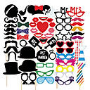 Wedding Décor 58 PCS Card Paper Photo Booth Props Party Fun Favor