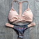 Bikinis Aux femmes Fleur Sans Armature Licou Nylon/Spandex