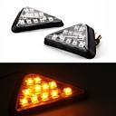 universell motorcykel triangel blinkersindikeringslampan glödlampor lampor (2 st)