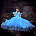 Girl's Summer Dress Inelastic Cinderella Princess Dress Short Sleeve Dresses (Organza)