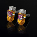Men's Cuban Cigars Smoking Golden Wedding Suit Shirt Cufflinks