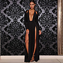 Women's Sexy Beach Casual Party Deep V Neck Split Maxi Dress