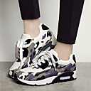 Women's Shoes Wedge Heel Round Toe Camouflage Fashion Sneakers Casual