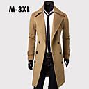 Men's Fashion Slim Long Double  Breasted Wool Coat