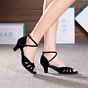 Scarpe da ballo - Non personalizzabile - Donna - Latinoamericano - Tacco cubano - Suede - Nero / Blu