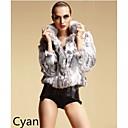Fur Coats Coats/Jackets 3/4 Sleeve Rabbit Fur Black/Pink/Burgundy/Jade/Regency/Dark Green/Yellow/Khaki/Gray/Blue