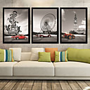 Personal Pictures Frame Drawning Room Frames Wall Art Wood Frame with Canvas with Plastic Organic Glass 3Piece/set