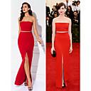 Prom / Military Ball / Formal Evening Dress - Ruby Plus Sizes / Petite Sheath/Column Strapless Floor-length Jersey