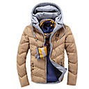 Men's Hoodie / Pan Collar Coats & Jackets , Polyester / Viscose Long Sleeve Casual / Work Zipper / Fashion  URUN