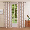 ett panel moderne kurve soverom polyester panelgardin drapere