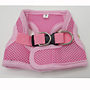 Dog Harnesses Adjustable/Retractable Red / Black / Pink Textile