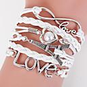 multistrato Torre Eiffel& amore del braccialetto del tessuto, i braccialetti ispiratori bianchi