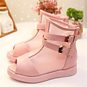 Girls' Shoes Outdoor / Casual Peep Toe / Open Toe Faux Leather Sandals Pink / Red