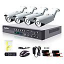 liview® 4-kanals hdmi 960h netværk DVR 900tvl udendørs dag / nat sikkerhed kamera system