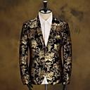 Men's Long Sleeve Regular Blazer , Cotton Print