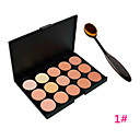 Foundation BB Cream Makeup Brush Tool+15 Colors Contour Face Cream Makeup Concealer Palette