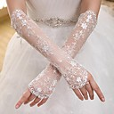 Elbow Length Fingerless Glove Elastic Satin Bridal Gloves / Party/ Evening Gloves