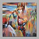 premium modern abstrakt handmålade abstrakt väggkonst på duk naken flicka målning inramad konst