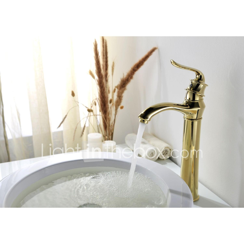 Traditionella styleti pvd enda hål enda handtag mässing badrum ...
