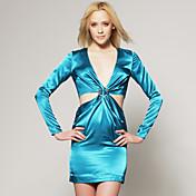 カットアウトのジャージードレス/滑走路のファッションにインスパイアされた