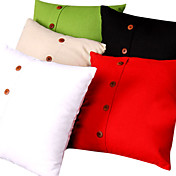 Linen Solid Color Cushion Cover (Buttom Decoration)
