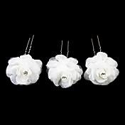 Mujer Niña de flor Satén Aleación Celada-Boda Ocasión especial Casual Pasador de Pelo 3 Piezas