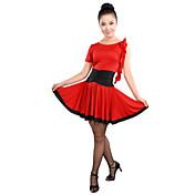 Baile Latino Vestidos Mujer Entrenamiento Viscosa Volantes Sin mangas Cintura Alta