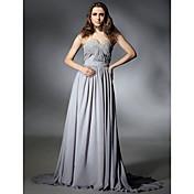 -line kultaseni lakaista / harja juna sifonki ilta / kävelyttää mekko innoittamana Selena Gomez klo Emmy Awards