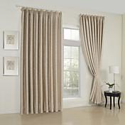 Dva panely Window Léčba Neoklasika , Jednolitý Obývací pokoj Viskózová vlákna Materiál záclony závěsy Home dekorace For Okno