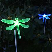 solární střídání barev vážka stylu zahradní kůlu světlo