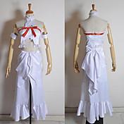 Inspirado por Sword Art Online Asuna Yuuki Animé Disfraces de cosplay Trajes Cosplay Retazos Sin Mangas Top Vestido Brazalete Para Mujer