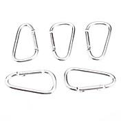 El aluminio de aleación de plata moda Hebilla para subir / Camping 006012 (5 unidades / bolsa)