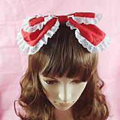 Joyas Amaloli Para la Cabeza Princesa Rosado Negro Azul Piscina Rojo Accesorios de Lolita Tocados Lazo Un Color por Algodón