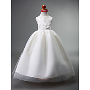 Vestido de vestidos de baile vestido de flor feminino - Tiras de cetim de seda sem molho com beading by lan ting bride®