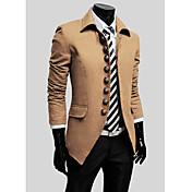 MEN-コート(ブラック / ブラウン / グレーオフィス-プレイン-長袖