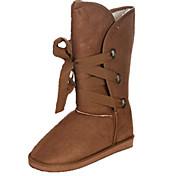 Lace-up Boots Mediados de-Becerro de la Mujer