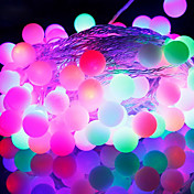 50-LED 9M 防水 EU プラグ アウトドア クリスマスデコレーション RGB  LED ストリングライト (220V)